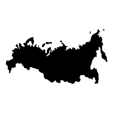 Map of Russian icon black color vector illustration flat style simple image