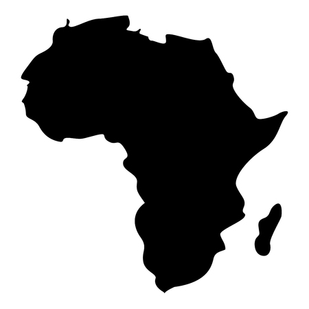 Map of Africa icon black color vector illustration flat style simple image Standard-Bild - 101045621