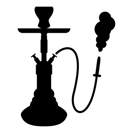 Hookah shisha icon black color vector illustration flat style simple image Vettoriali