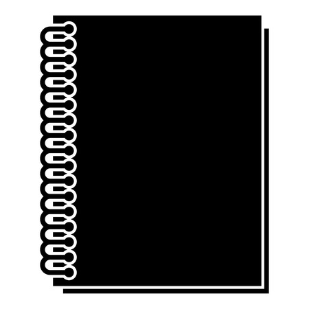 Notebook with spring icon black color vector illustration flat style simple image