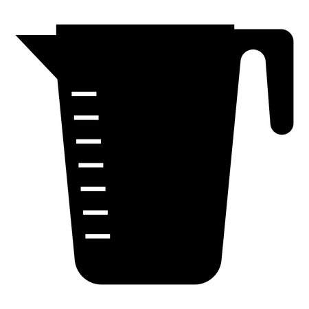 Measuring capacity cup icon black color vector illustration flat style simple image