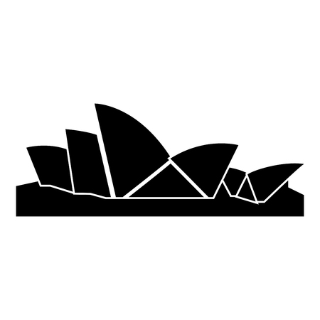 Sydney Opera House icon black color vector illustration flat style simple image