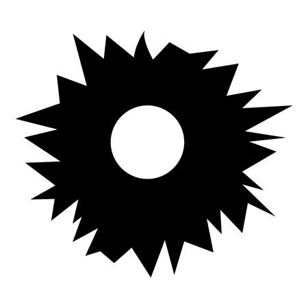 Hole from shot icon black color vector illustration flat style simple image