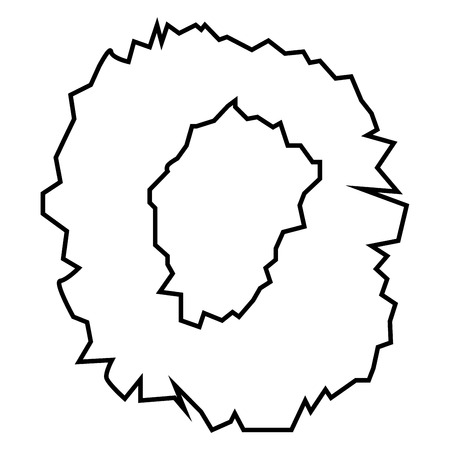 Hole in the surface icon black color vector illustration flat style outline