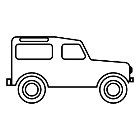 Off road vehicle icon black color vector illustration flat style outline