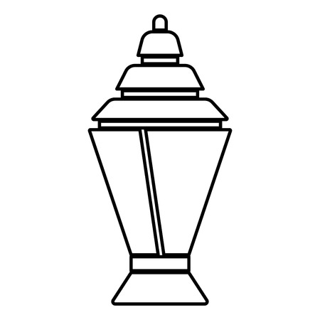 Ramadan kareem lantern or fanous icon black color vector illustration flat style outline Illustration