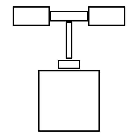 Detonator icon black color vector illustration flat style outline