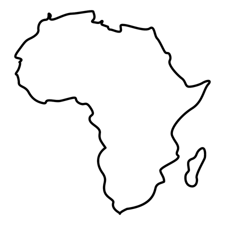 Map of Africa icon black color vector illustration flat style outline Standard-Bild - 101082742