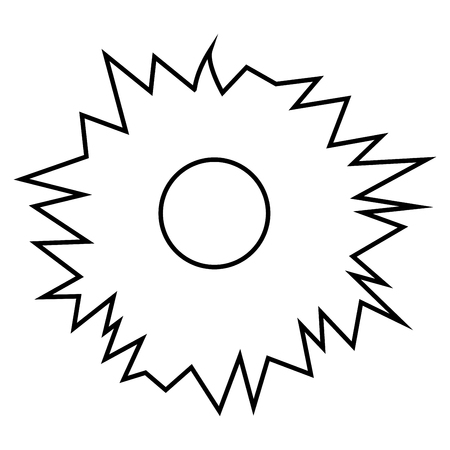 Hole from shot icon black color vector illustration flat style outline