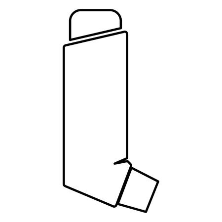 Manual inhaler icon black color vector illustration flat style outline