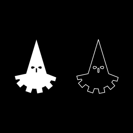 Executioner hangman icon set white color vector illustration flat style simple image outline