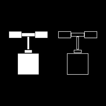Detonator icon set white color vector illustration flat style simple image outline Stock Illustratie