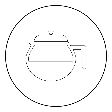 Teapot it is the black color icon in circle or round