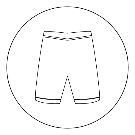 Shorts icon black color in circle vector illustration 向量圖像