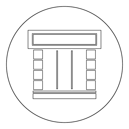 Shopfront icon outline black color in circle vector illustration Foto de archivo - 102330559