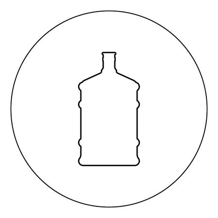 Dispenser large bottles icon black color in circle outline vector illustration