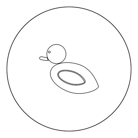 Duck icon black color in circle outline vector illustration Zdjęcie Seryjne - 102335804