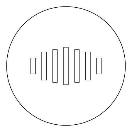 Digital signal black icon in circle vector illustration isolated flat style .