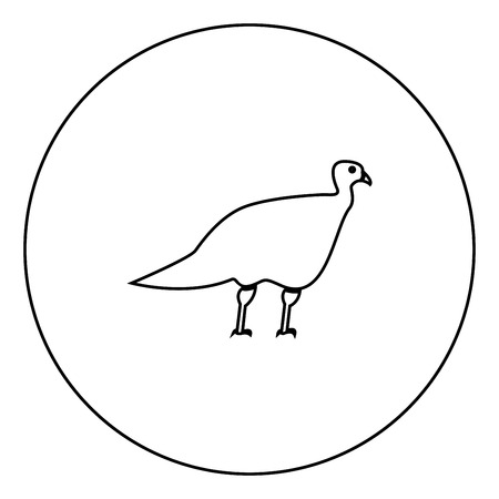 Turkeycock  black icon in circle outline vector illustration image Çizim