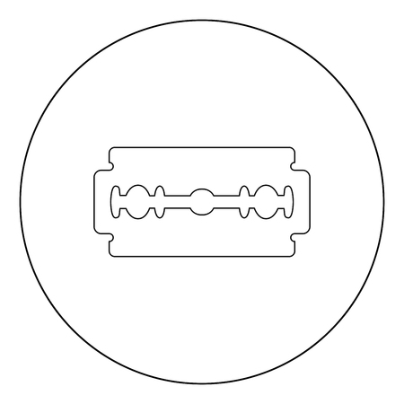 Blade razor black icon in circle vector illustration isolated flat style . Illustration