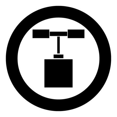 Detonator icon black color in circle round vector illustration Stock Illustratie