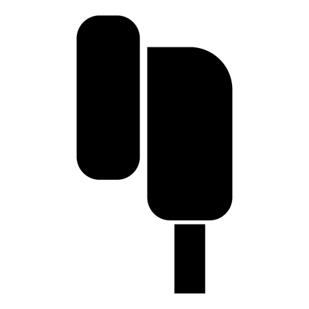 Eearphone plug icon black color vector illustration flat style simple image