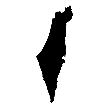 Map of Israel icon black color vector illustration flat style simple image