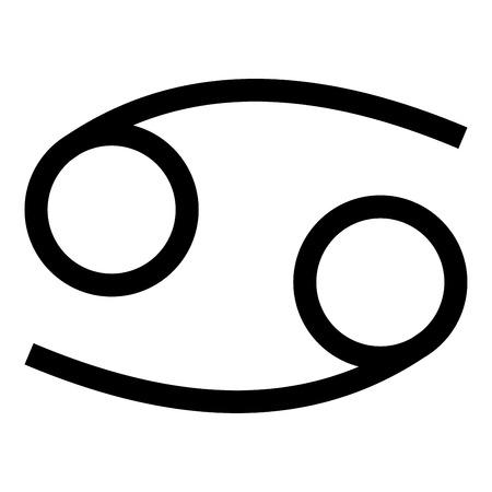 Cancer zodiac symbol crawfish sign icon black color vector illustration flat style simple image Ilustrace