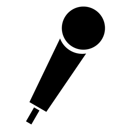 Hand microphone icon black color vector illustration flat style simple image