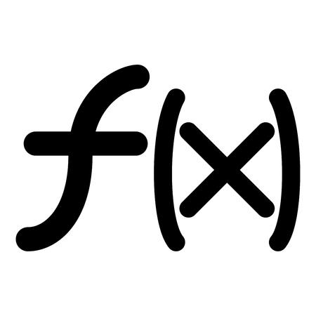 Icono de función de símbolo ilustración vectorial de color negro estilo plano simple imagen