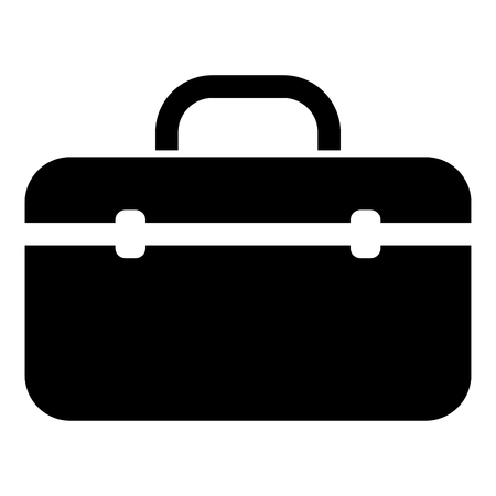 Tool box professional icon black color vector illustration flat style simple image 일러스트