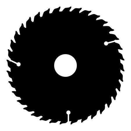 Icône de disque circulaire couleur noire illustration vectorielle style plat simple image Vecteurs