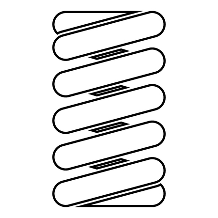 Spring coil icon black color vector illustration flat style simple image  イラスト・ベクター素材