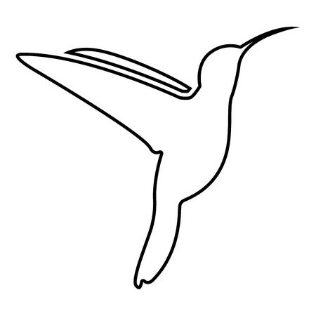 Hummingbird icon black color vector illustration flat style simple image Stock Illustratie