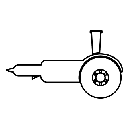 Bulgarian electric circular saw angle grinder with discs hand-held icon black color vector illustration flat style simple image  イラスト・ベクター素材