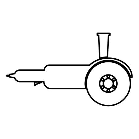 Amoladora angular de sierra circular eléctrica búlgara con discos de mano icono de color negro ilustración vectorial tipo plano simple imagen