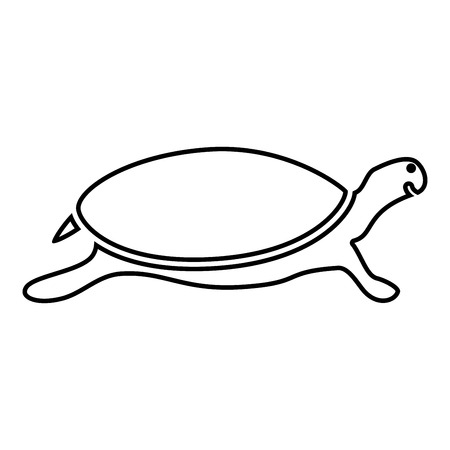 Tortoise turtle icon black color vector illustration flat style simple image