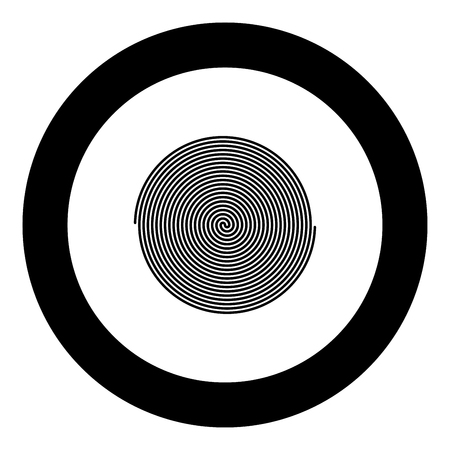 Spiral icon black color in round circle vector illustration