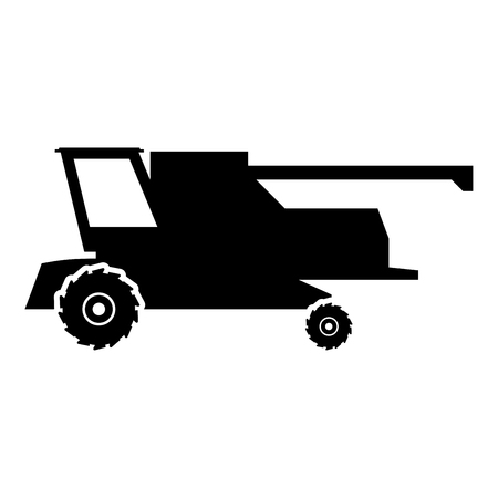 Farm harvester for work on field Combine icon black color vector illustration flat style simple image Illustration