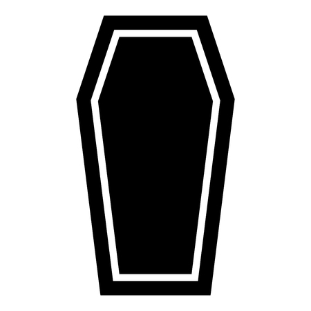 Coffin Insurance concept Funeral subject Lid coffin icon black color vector illustration flat style simple image Illustration