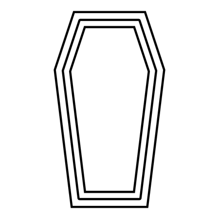 Coffin Insurance concept Funeral subject Lid coffin icon black color vector illustration flat style simple image outline