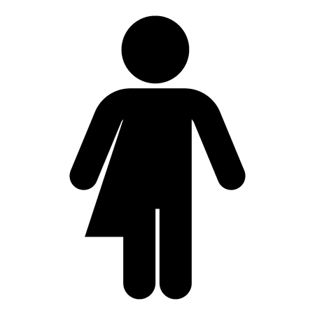 Symbol concept of gender loyalty Transvestite concept Homosexual icon black color vector illustration flat style simple image Illustration