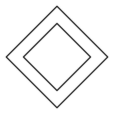 Ingwaz rune Inguz living ing symbol icon black color vector illustration flat style simple image Banco de Imagens - 126558307