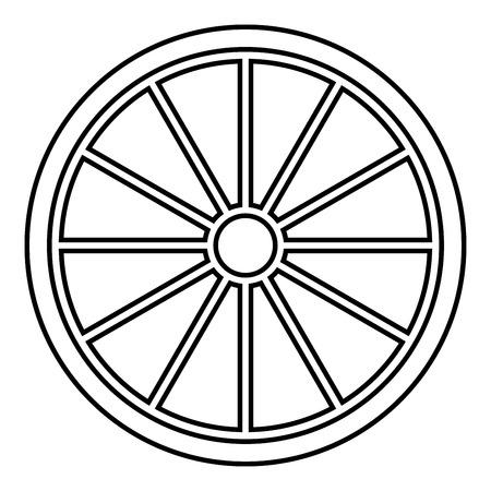 Viking shield icon black color vector illustration flat style simple image 向量圖像