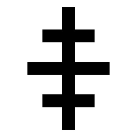 Cross papal roman church icon black color vector illustration flat style simple image Vektorgrafik
