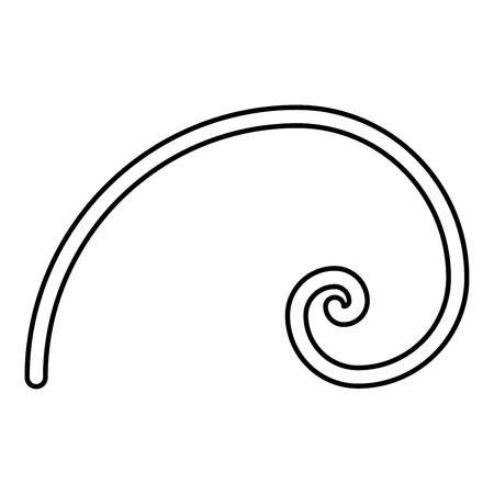 Section d'or en spirale proportion de proportion d'or spirale de Fibonacci icône de couleur noire contours vector illustration télévision image simple style
