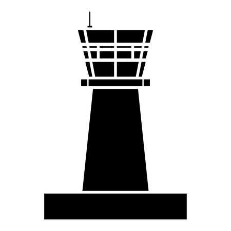 Airport control tower Control tower air traffic icon black color vector illustration flat style simple image