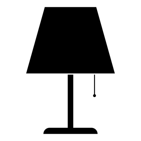Table lamp Night lamp Clasic lamp icon black color vector illustration flat style simple image
