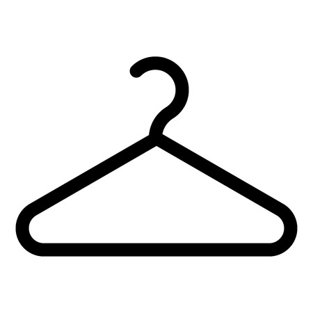 Hanger Clothes hanger icon black color vector illustration flat style simple image
