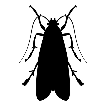 Clothes moth Clothing moth Fly insect pest icon black color vector illustration flat style simple image
